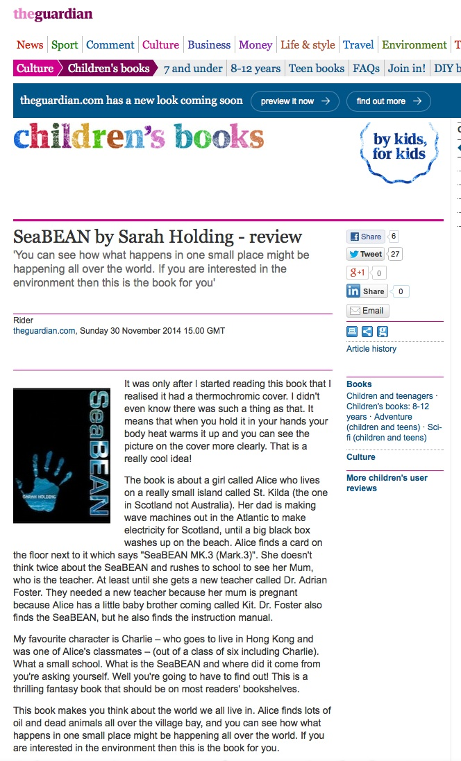 seabean review 301114